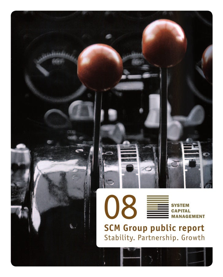 08                 SYSTEM                    CAPITAL                    MANAGEMENT  SCM Group public report Stability. Par...