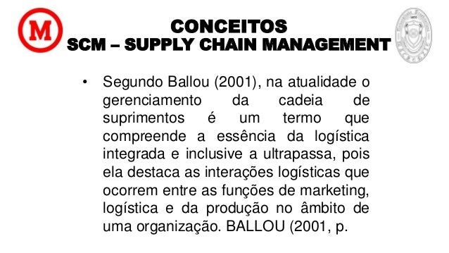 Scm Supply Chain Management Gestao Da Cadeia De Suprimentos