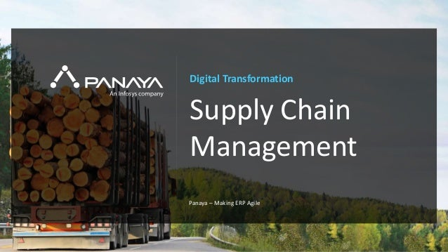PANAYA© Panaya | An Infosys Company Digital Transformation Supply Chain Management Panaya – Making ERP Agile