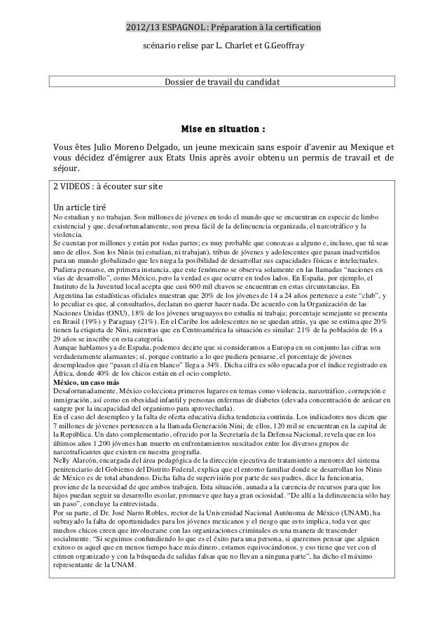 2012/13ESPAGNOL:Préparationàlacertification                             scénarioreliseparL.CharletetG.Geoffra...