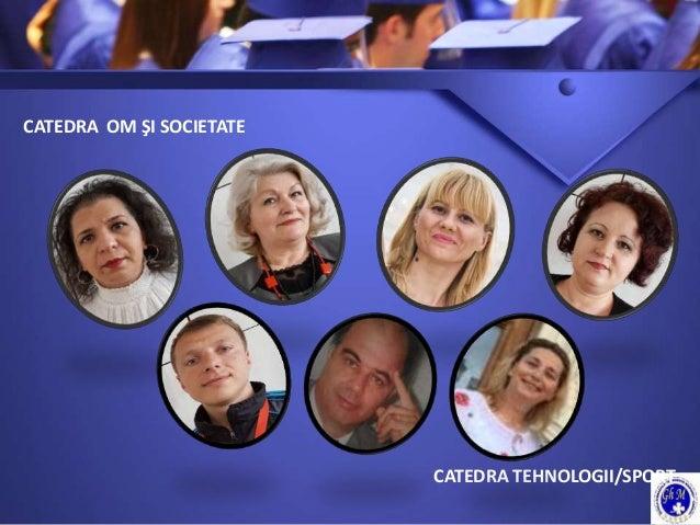 CATEDRA OM ŞI SOCIETATE CATEDRA TEHNOLOGII/SPORT