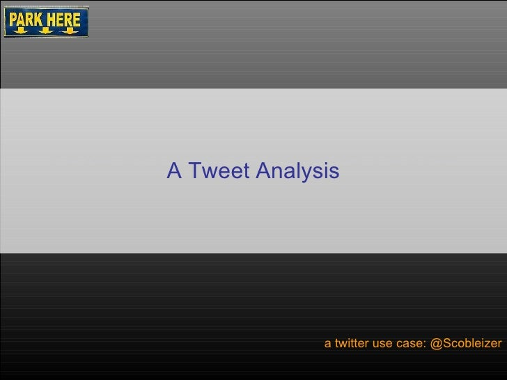 How to Brew Coffee At Home a twitter use case: @Scobleizer A Tweet Analysis