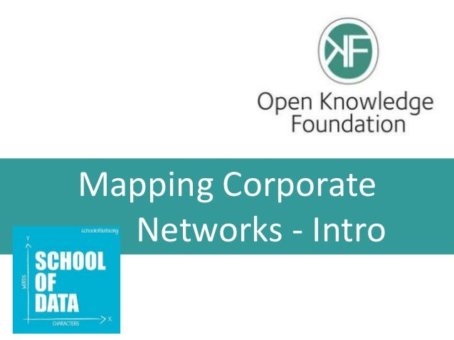 Mapping Corporate Networks - Intro