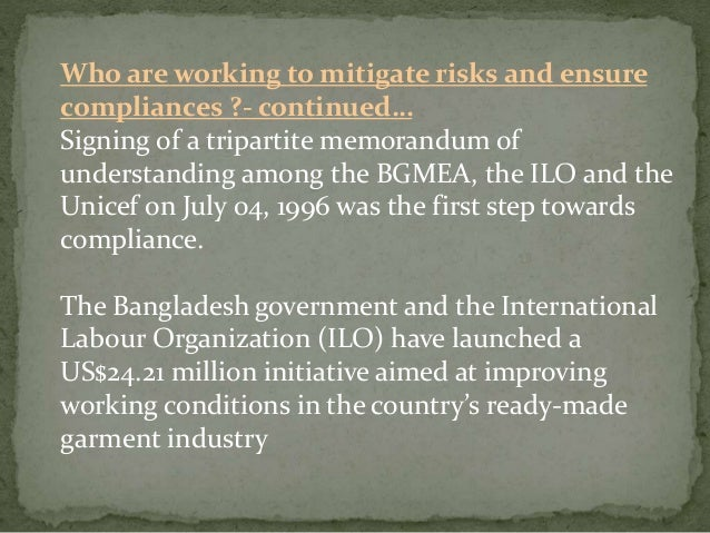 improving social compliance in bangladeshs ready made Social compliance in ready-made garment industry in bangladesh: challenges  for hr  improved over the time, it was never an industry-wide practice only a.