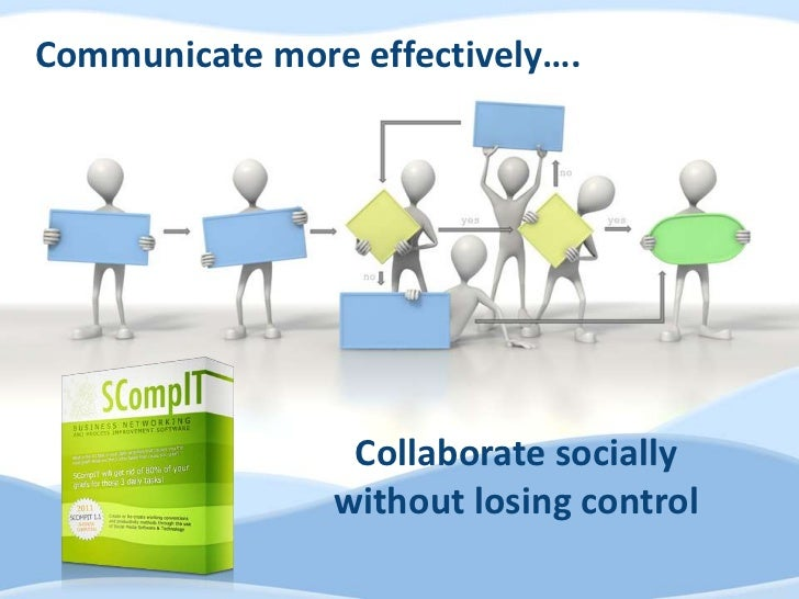 Communicate more effectively….                 Collaborate socially                without losing control