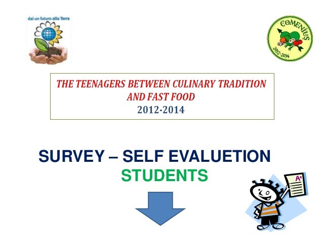 SURVEY – SELF EVALUETION STUDENTS
