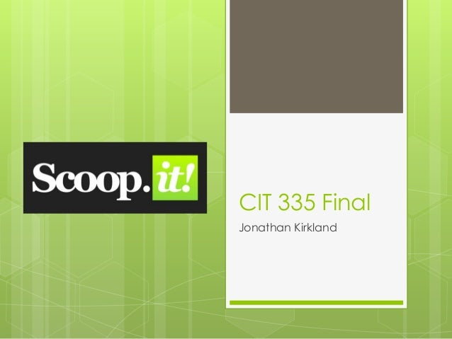 CIT 335 FinalJonathan Kirkland