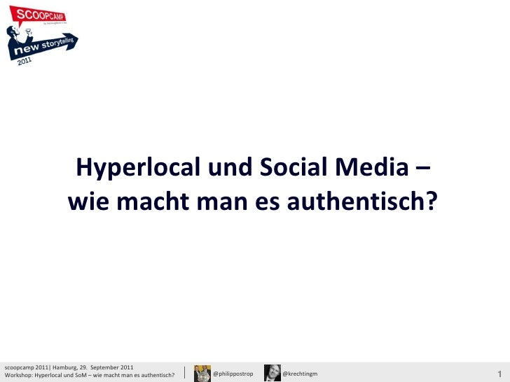 Hyperlocal und Social Media –                                                                                             ...