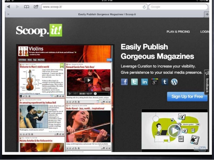 scoop.it isa web 2.0  tool for curating content