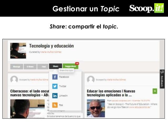 Gestionar un Topic Share: compartir el topic.
