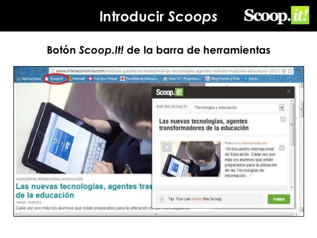 Introducir Scoops Botón Scoop.It! de la barra de herramientas