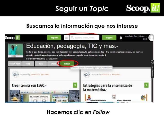 Seguir un Topic Buscamos la información que nos interese  Hacemos clic en Follow