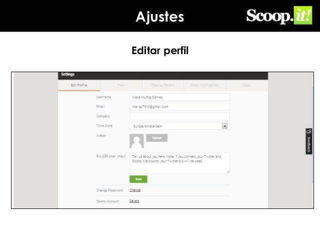 Ajustes Editar perfil