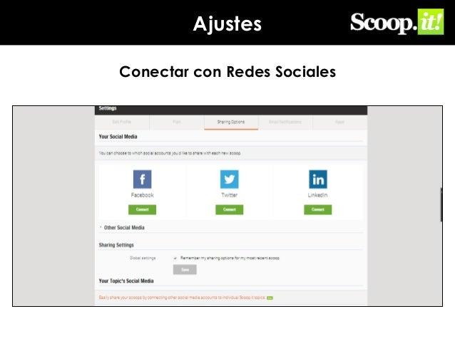 Ajustes Conectar con Redes Sociales