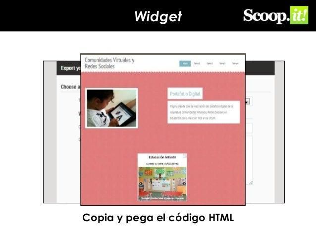 Widget  Copia y pega el código HTML