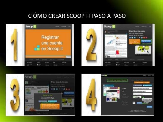 C ÓMO CREAR SCOOP IT PASO A PASO