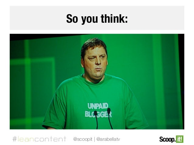 So you think:  @scoopit | @arabellatv