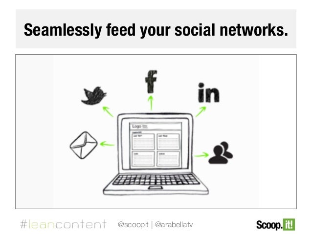Seamlessly feed your social networks.  @scoopit | @arabellatv
