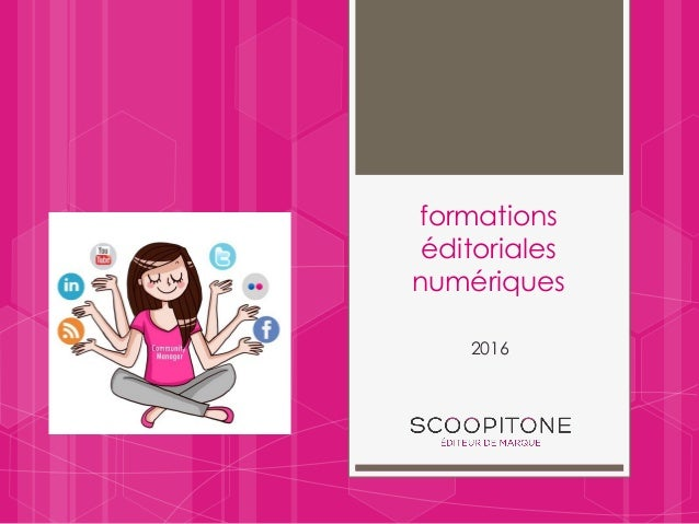 formations éditoriales numériques 2016