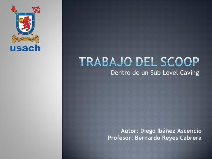 Dentro de un Sub Level Caving          Autor: Diego Ibáñez Ascencio Profesor: Bernardo Reyes Cabrera