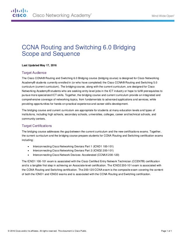 © 2016 Cisco and/or its affiliates. All rights reserved. This document is Cisco Public. Page 1 of 1 CCNA Routing and Switc...