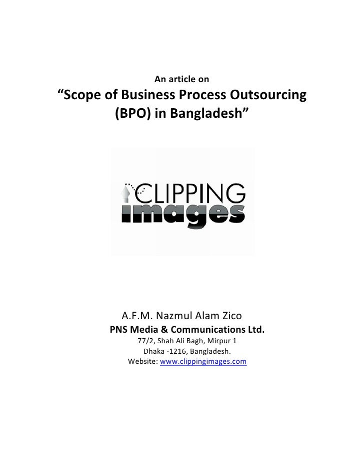 "Anarticleon     ""ScopeofBusinessProcessOutsourcing             (BPO)inBangladesh""  ..."
