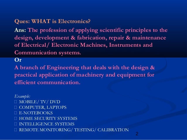 Scope Of Electronics And Communication Engineering Ppt