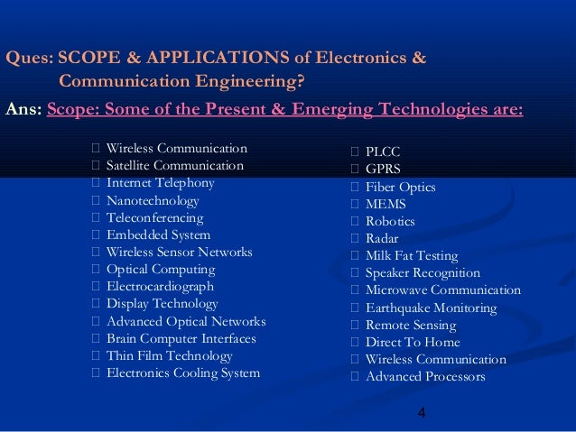 future of electronic communication Studying electronics and communication engineering is the dream of every  second aspirant due to a number of reasons – growth, job.