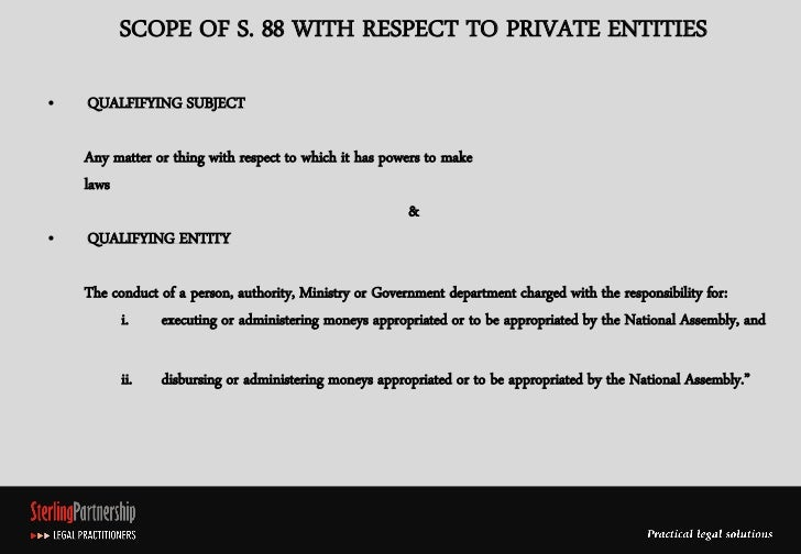 Scope Of Legislative Powers Of Enquiry And Investigation Over Private Entities   Li1 Slide 3