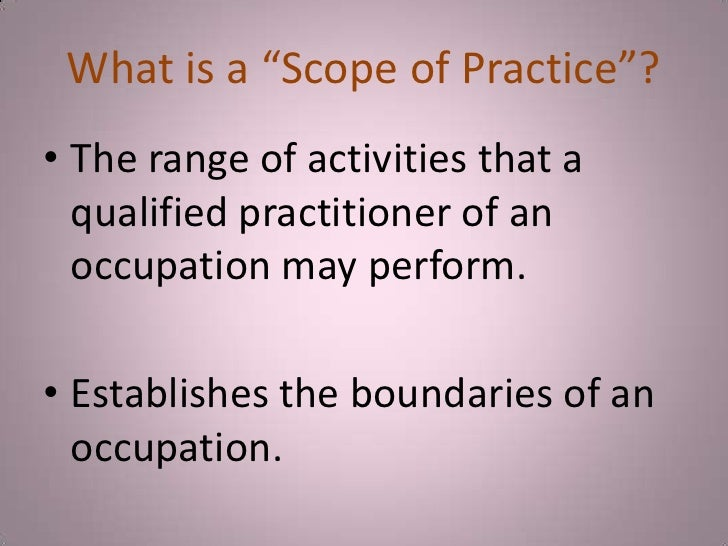 scope of practice medical assistant essay Essay on medical assistant ethics  outside the scope of a medical assistant's practice would be suturing a wound, administering a pap test for a female patient .