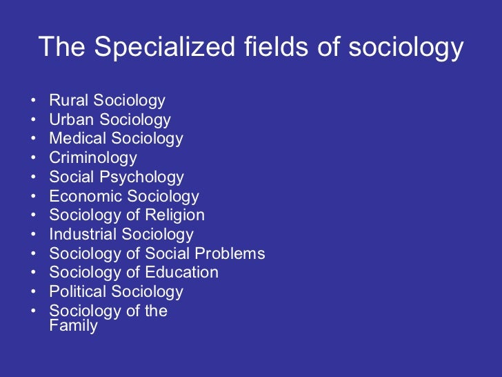 define sociology and explain its scope