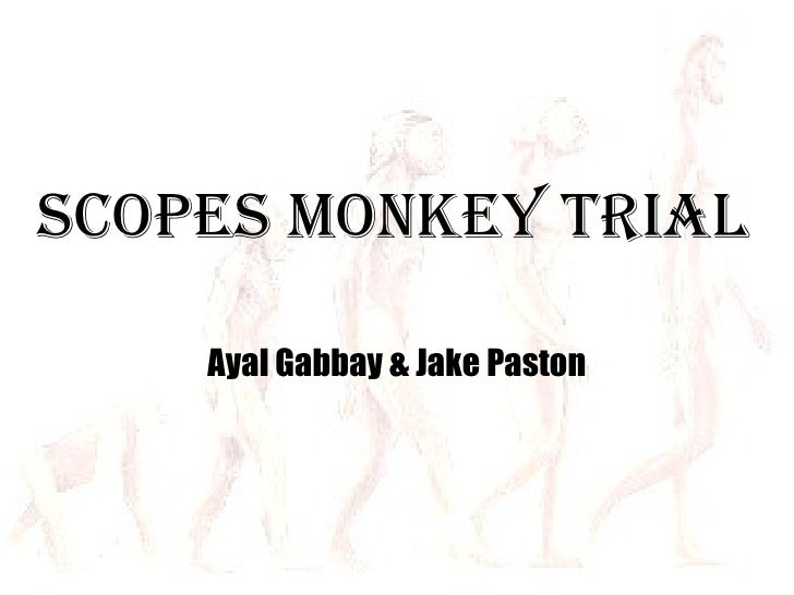 Scopes Monkey Trial Ayal Gabbay & Jake Paston