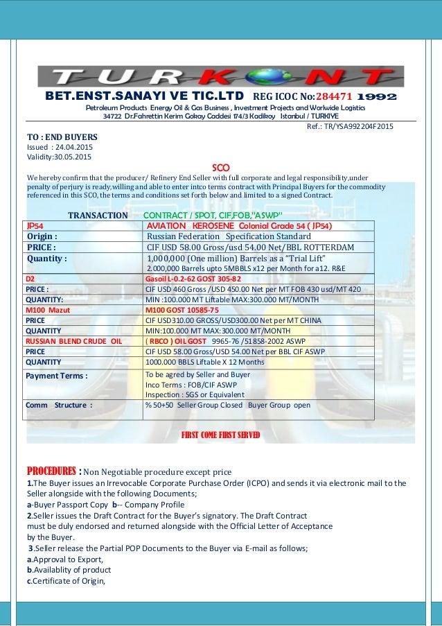 Sco price list 2015 fob cif aswp turkont ltd