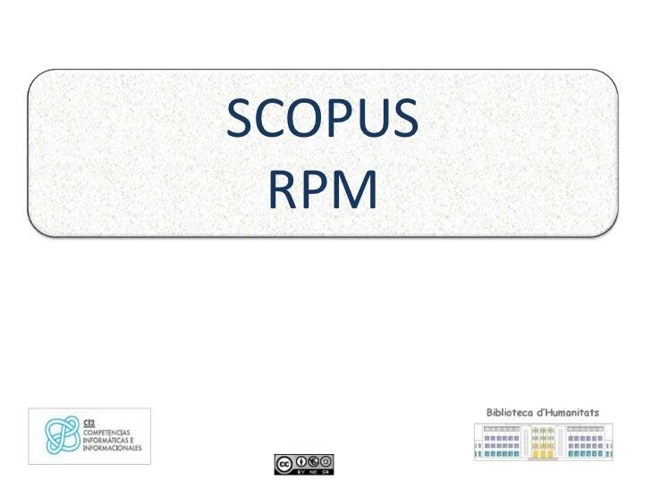 SCOPUS RPM