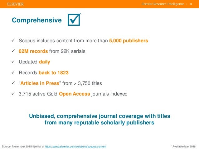 The value of Scopus: an eye on global research