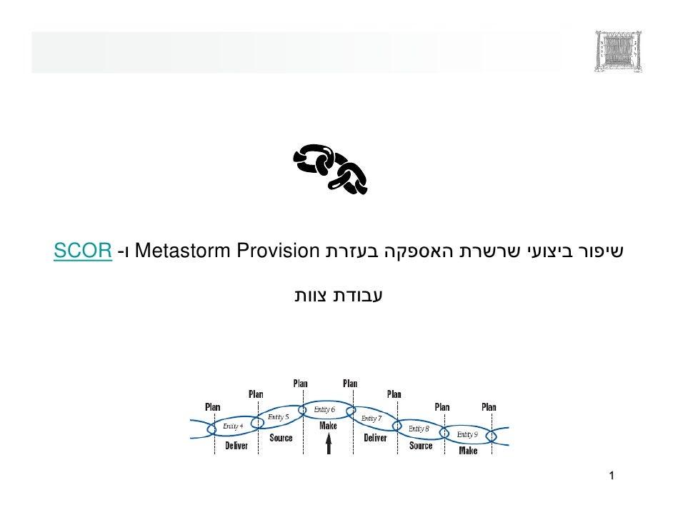 SCOR - Metastorm Provision                                  1