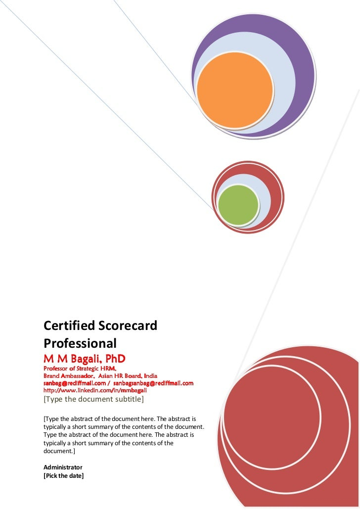 Certified ScorecardProfessionalM M Bagali, PhD    Bagali,Professor of Strategic HRM,Brand Ambassador, Asian HR Board, Indi...
