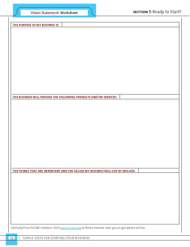Simple Steps For Starting Your Business – Business Interruption Worksheet