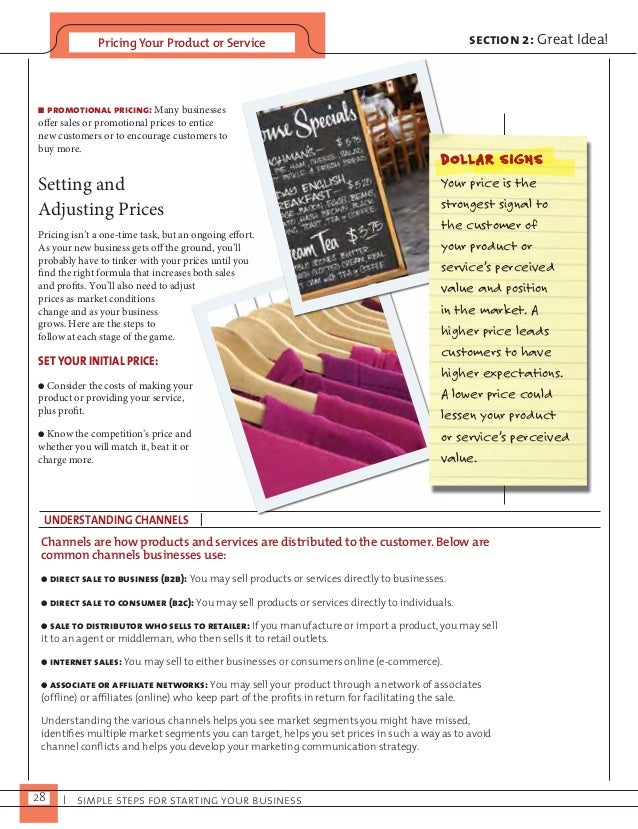 Pricing Your Product or Service  n promotional pricing: Many businesses  offer sales or promotional prices to entice  new ...