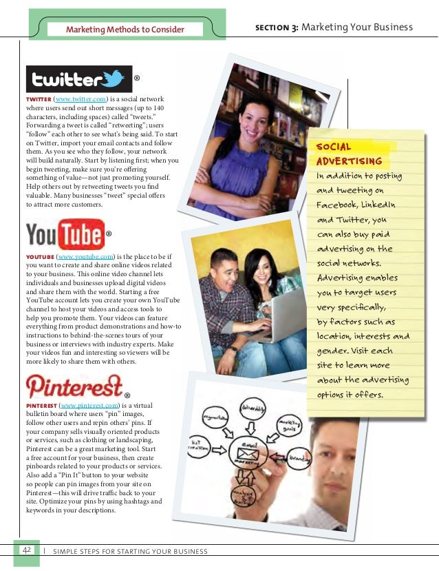 Marketing Methods to Consider section 3: Marketing Your Business  ®  twitter (www.twitter.com) is a social network  where ...