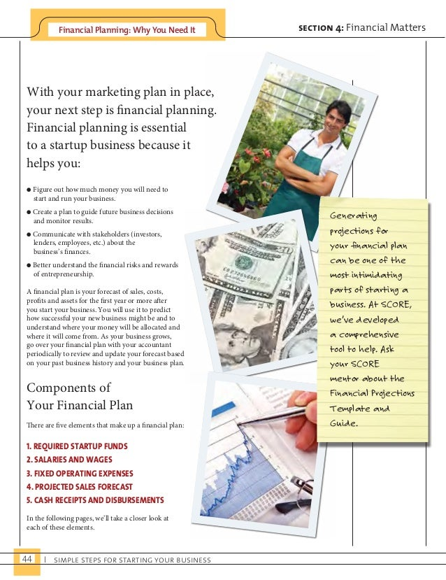 Financial Planning: Why You Need It  With your marketing plan in place,  your next step is financial planning.  Financial ...