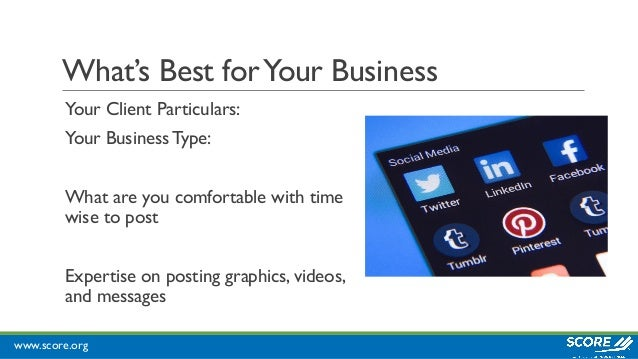 www.score.org What's Best forYour Business Your Client Particulars: Your Business Type: What are you comfortable with time...
