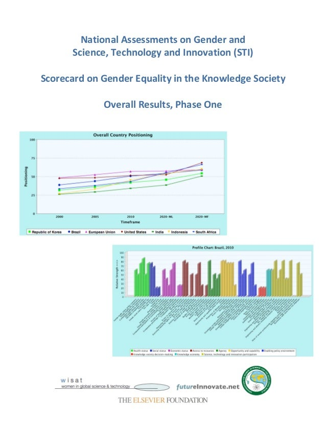Knowledge Equality >> Scorecard On Gender Equality And The Knowledge Society