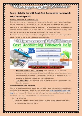 acc310 cost accounting university of as Study 17 acc310 flashcards from ivonne e on studyblue study 17 acc310 flashcards - accounting standards have developed through private sector: historical cost principle fair value principle.