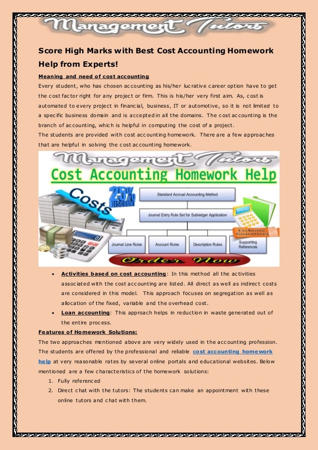Accounting 1 homework help