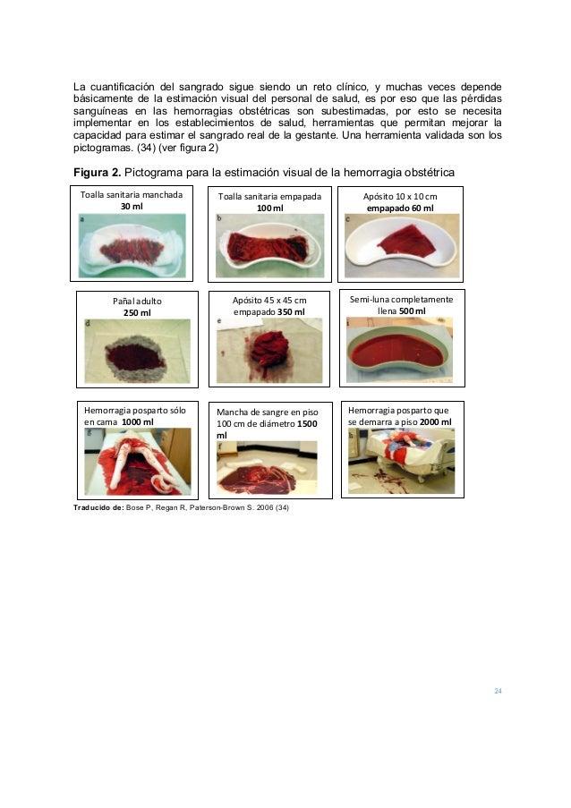 24 La cuantificación del sangrado sigue siendo un reto clínico, y muchas veces depende básicamente de la estimación visual...