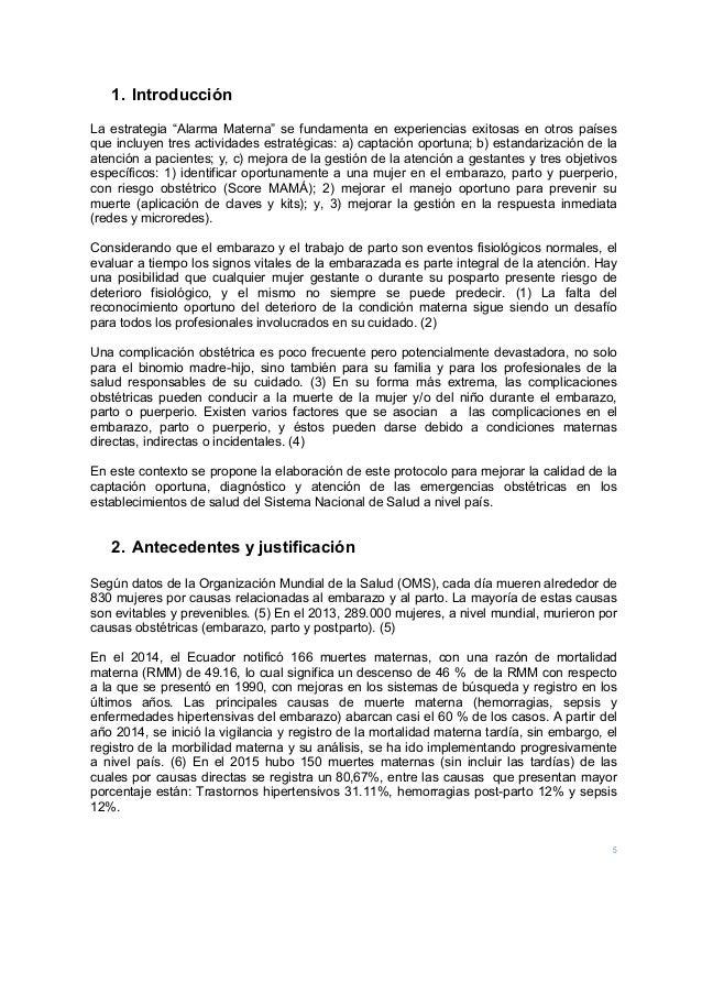 """5 1. Introducción La estrategia """"Alarma Materna"""" se fundamenta en experiencias exitosas en otros países que incluyen tres ..."""