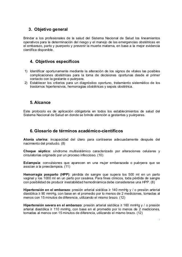 7 3. Objetivo general Brindar a los profesionales de la salud del Sistema Nacional de Salud los lineamientos operativos pa...