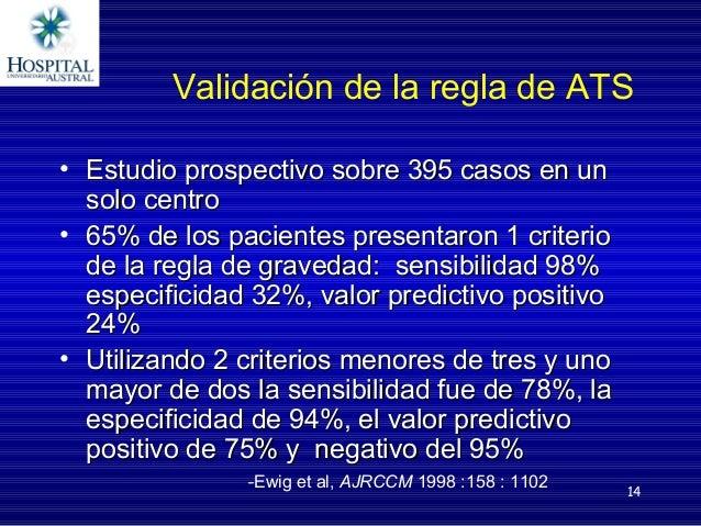 14 Validación de la regla de ATS • Estudio prospectivo sobre 395 casos en unEstudio prospectivo sobre 395 casos en un solo...