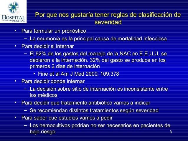 Escalas de severidad en neumonia adquirida en la comunidad Slide 3